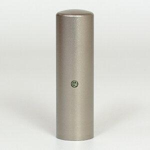 個人印鑑・認印・ジュエリーチタン(スワロフスキーアタリ付)・ブラックダイヤ・印面直径約18mm×長さ約60mm・ケース別売り