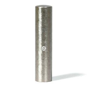 個人印鑑・実印・ジュエリーチタン・シルバー粒界チタン(スワロフスキーアタリ色選択可)・印面直径約13.5mm×長さ約60mm・ケース別売り
