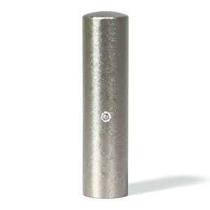 個人印鑑・認印・ジュエリーチタン・シルバー粒界チタン(スワロフスキーアタリ色選択可)・印面直径約15mm×長さ約60mm・ケース別売り