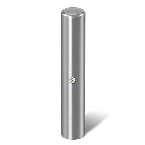 個人印鑑・認印・ジュエリーチタン・シルバーミラー(スワロフスキーアタリ色・有無選択可)・印面直径約10.5mm×長さ約60mm・ケース別売り