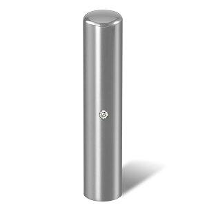 個人印鑑・銀行印・ジュエリーチタン・シルバーミラー(スワロフスキーアタリ色・有無選択可)・印面直径約12mm×長さ約60mm・ケース別売り