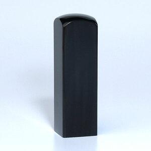 落款印(雅印・雅号印)[職人彫り]黒水牛特上・角寸胴・印面約18x18mm・長さ約60mm・ケース別売り