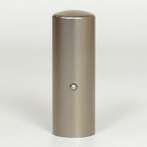 先生印(資格印・職印・士業印)丸印・シルバーブラストチタン・丸寸胴(アタリ有り)・印面直径約21mm×長さ約60mm・ケース別売り