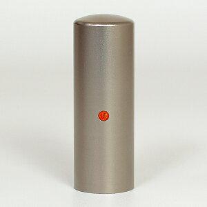 先生印(資格印・職印・士業印)丸印・シルバーブラストチタン・丸寸胴(スワロフスキーアタリ付)・サン・印面直径約21mm×長さ約60mm・ケース別売り