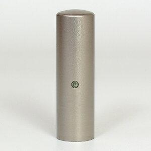 先生印(資格印・職印・士業印)丸印・シルバーブラストチタン・丸寸胴(スワロフスキーアタリ付)・ブラックダイヤ・印面直径約18mm×長さ約60mm・ケース別売り