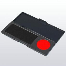 サンビー・シュスタ速乾・黒[Sanby・GF-S02]・朱肉直径38mm・パッドサイズ95×40mm・本体サイズ165×60×12mm