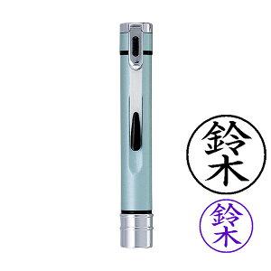 シャチハタ・ネームエルツイン・パールブルー+ネームペン用ネームX-GPS(認印)+ネーム6(訂正印)・インク色:5色より選択可能・既製品・メーカー在庫品[Shachihata・TKE-BW2+X-GPS+XL-6]/商品コ