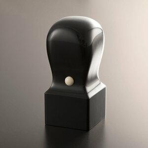 先生印/資格印/職印/角印[匠手彫り] 黒水牛芯持/角天丸/27mm/ケース別売