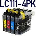 年賀状印刷に最適エコインク★LC111-4PK【ブラザープリンター対応】対応 互換インクカートリッジ 4色パック インク 4色セット