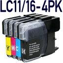 【4色パック】LC11/LC16-4PK【ブラザープリンター対応】対応 互換インクカートリッジ 4色パック