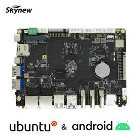 Skynew シングルボードコンピュータ マザーボード Rockchip RK3399 プロセッサ搭載 4GB LPDDR4 / 64GB eMMC / Ubuntu18.04初期搭載 / Android7.1 Wi-Fiアンテナ+電源アダプタ+OSインストール用ケーブル付属 H3399 【メーカー保証:1年】