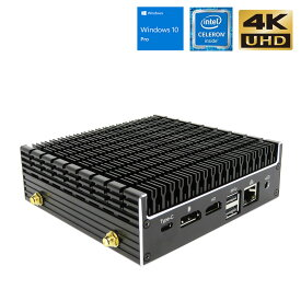 パソコン 新品 ミニパソコン 静音 【Skynew K4】 小型ファンレス Intel Celeron 4205U/8GB/128GB/DPポート HDMI 4K対応 デスクトップパソコン 送料無料 在宅勤務 テレワーク