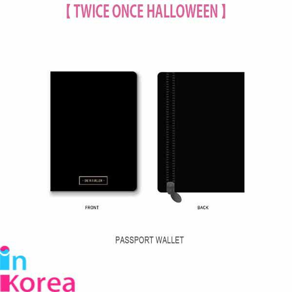 TWICE パスポートウォレット【ポスト投函】/ K-POP TWICE ONCE HALLOWEEN OFFICIAL GOODS PASSPORT WALLET トゥワイス 公式グッズ
