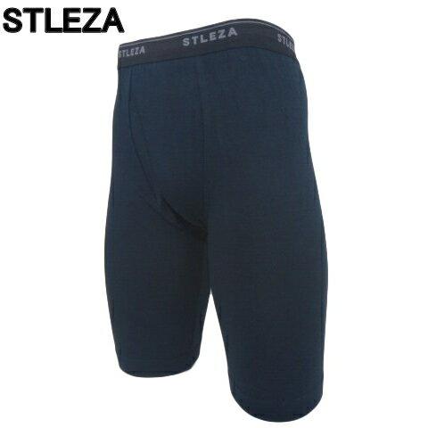 送料無料お試し商品 STLEZA フィットロングボクサーパンツ ブラック