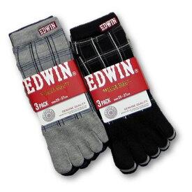 グンゼ【EDWIN/エドウィン】5本指スニーカーソックス【6足セット】チェック:EWF022【あす楽_土曜営業】【あす楽_日曜営業】【かかと付き】【5本指靴下・靴下・メンズ靴下】