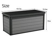 【送料無料】PremierDeckBox【KETER収納庫大容量丈夫プラスチック樹脂製耐水物置屋外ベランダケーターDIY収納家具物入れ庭おしゃれベンチ】