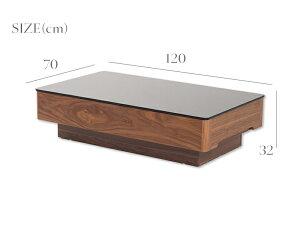 【送料無料】ガラステーブルセンターテーブルホワイトブラックブラウンガラス製高級