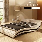 ベッド高級おしゃれホワイトポケットコイルマットレス付きホテル仕様フラックス