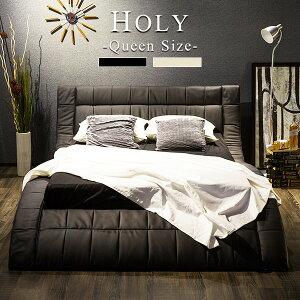 ベッド高級おしゃれかわいいポケットコイルマットレス付きホテル仕様ホーリークイーンサイズ