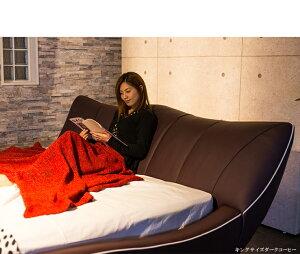 【送料無料】ベッドマットレス付き紫ヴィノグラートクイーンサイズ高級パープルポケットコイルマットレスホテル仕様コーヒーヴィノグラートクイーンベッドクイーン高反発マットレス付きベッドフレーム茶色