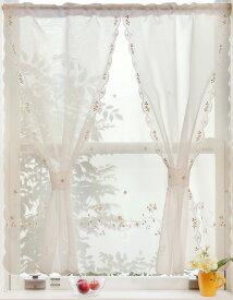 【メール便対応OK!】セットアップロマンス 小窓カーテン 幅85x丈90cm
