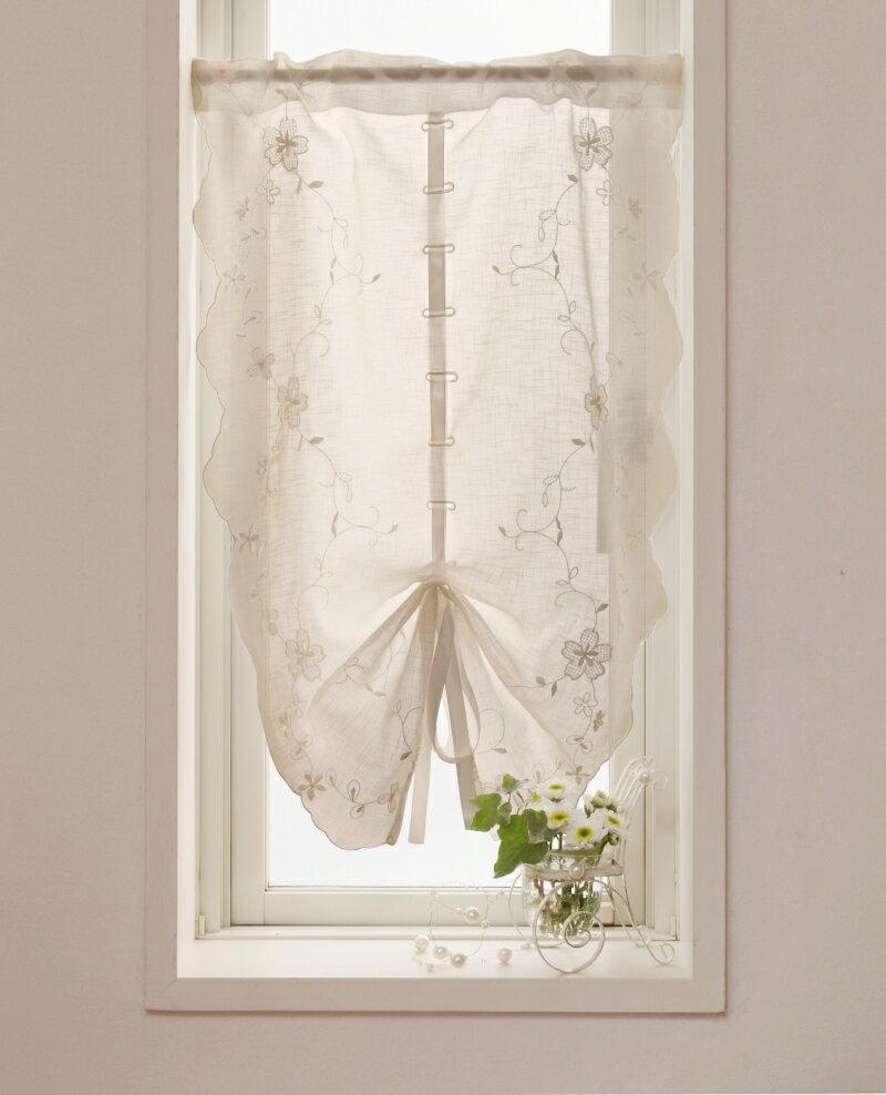 【メール便対応OK!】リボンマリア 小窓カーテン 幅45x丈65cm