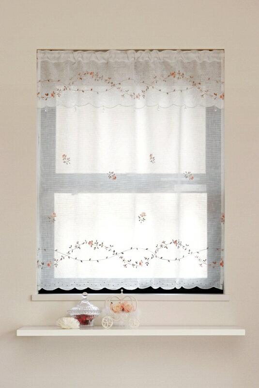 【メール便対応OK!】ローラ 小窓カーテン 幅85x丈90cm【お買い物マラソン】