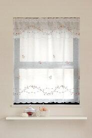 【メール便対応OK!】ローラ 小窓カーテン 幅85x丈90cm