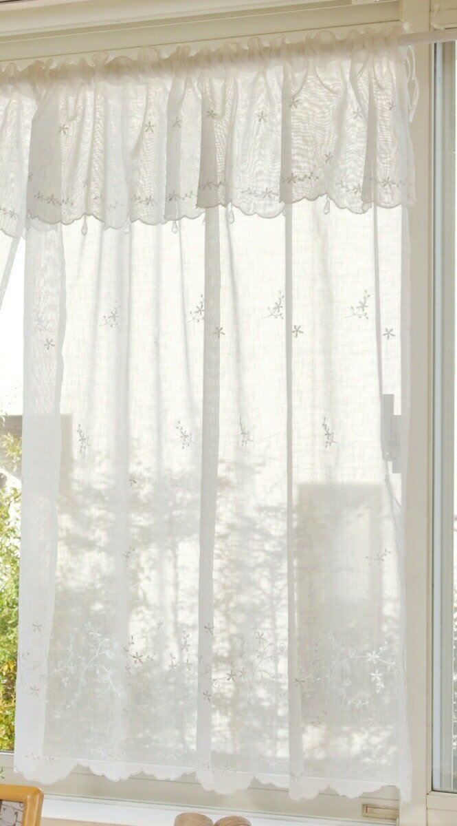 【メール便対応OK!】シュガー 小窓カーテン 幅85x丈90cm