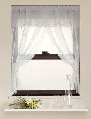 【メール便対応OK!】クロスシュガー 小窓カーテン 幅100x丈90cm