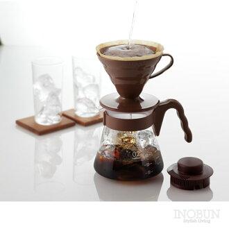 Hario HARIO V60 咖啡服务器 02 设置 700 毫升布朗