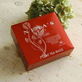 【期間限定!P3倍】ニナス 紅茶 4レッドフルーツ NINAS ティーバッグ 3g x 7袋