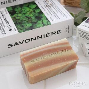 【期間限定!P3倍!】フランス製ソープ サヴォニエール 石けん SAVONNIERE レッドクレイとカリテバター 100g パチュリの香り