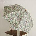 クーポール Coupole リバティプリント LIBERTY 折りたたみ日傘 2つ折り 晴雨兼用 EMILY 日本製