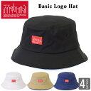 Manhattan Portage マンハッタンポーテージ バケットハット ベーシック ロゴ ハット 帽子 バケハ BUCKET HAT シンプル…