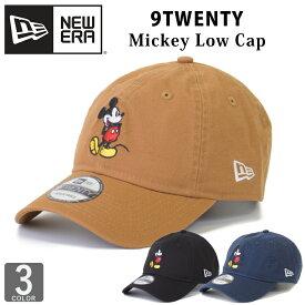 NEW ERA ミッキーマウス コラボ ベースボールキャップ キャップ 帽子 ロゴ ニューエラ 9TWENTY 920Mickey Mouse Canvas