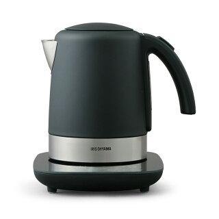 ケトル電気おしゃれ電気ケトルIKE-D1000T-B送料無料温度調節コーヒー保温温度調節機能湯沸し湯沸かしポット湯沸かし器やかん電気ポットポットかわいいデザインケトル紅茶ティーコーヒー珈琲茶お茶熱湯ブラックアイリスオーヤマ