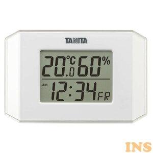 温度計 湿度計 おしゃれ タニタ デジタル温湿度計 TT-574-WH送料無料 温湿度計 デジタル 時計 時計付 かわいい マグネット デジタル温度計 デジタル湿度計 新生活 一人暮らし キッチン リビン