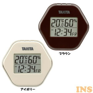 温度計 湿度計 おしゃれ デジタル温湿度計 TT-573-IV送料無料 タニタ かわいい 温度 湿度 時計 温湿度計 デジタル デジタル時計 デジタル温度計 デジタル湿度計 室内温度計 温湿度 北欧 キッチ
