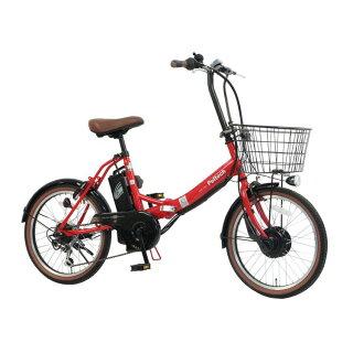 PELTECHノーパンク20インチ折り畳み電動アシスト自転車外装6段変速【簡易組立必要品】TDN−206LN−R送料無料電動自転車自転車E−BIKE折り畳み自転車折りたたみパンクしないラクラクペルテックレッドホワイトネイビーブラック【TD】【代引不可】