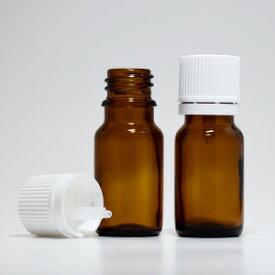 茶色 遮光 ガラス瓶 10ml(1本/白キャップ/ドロッパー付) アロマオイル 精油 エッセンシャルオイル アロモア (アロマディフューザー)に設置可能