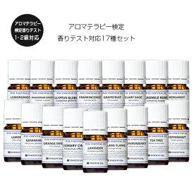 アロマテラピー 検定 香りテスト 17種セット AEAJ (公社)日本アロマ環境協会表示基準適合 認定精油 インセント エッセンシャルオイル 精油 アロマオイル セット