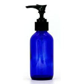 生活の木 青色ガラスポンプ瓶(遮光瓶) 120ml