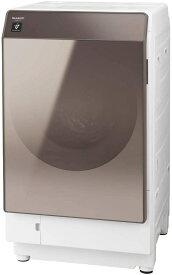 シャープ 洗濯機 ドラム式洗濯機 ヒートポンプ乾燥 左開き(ヒンジ左) DDインバーター搭載 ブラウン系 洗濯11kg/乾燥6kg 幅640mm 奥行728mm ES-G112-TL 送料無料