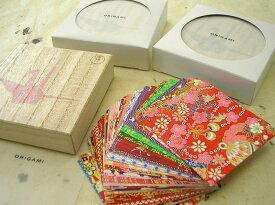 本格手染友禅和紙桐箱 千代紙セット7.5×7.5cm 100枚入り