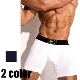 THE PACK/Boxer Brief ロング ボクサーパンツ メンズインナー ファッション ドットメッシュ ローライズ 高級下着