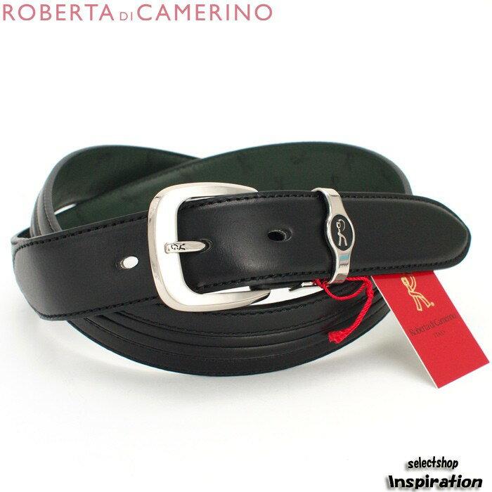 <クーポン配布中>ロベルタディカメリーノ ベルト レザーベルト〈黒〉(20120911-1)ブラック レディース(Roberta di Camerino)