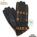 ヴィヴィアンウエストウッド(Vivienne westwood)手袋 レザー手袋〈黒〉(20121212-2)ブラック メンズ 紳士