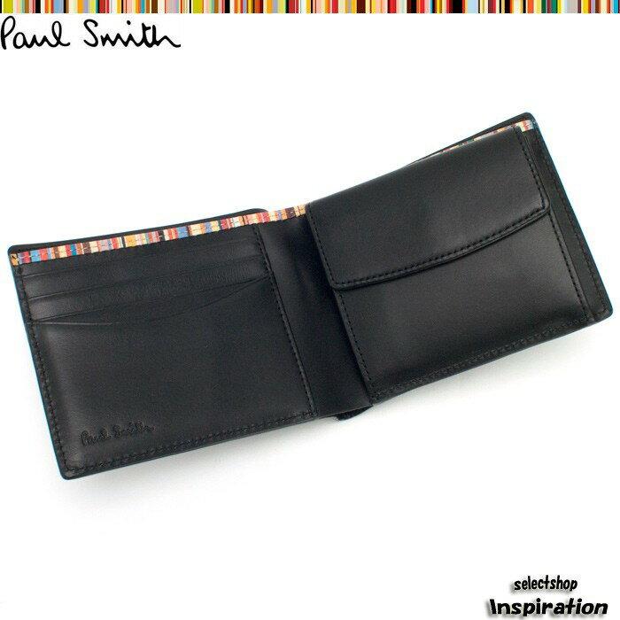 ポールスミス(Paul Smith)財布 二つ折り財布〈黒〉(psk906-10)ブラック メンズ