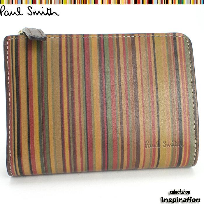 ポールスミス(Paul Smith)財布 二つ折り財布〈マルチ〉(psu360-70)メンズ